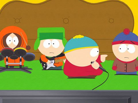 South park cartman sings poker face stick n poke tattoo smiley face